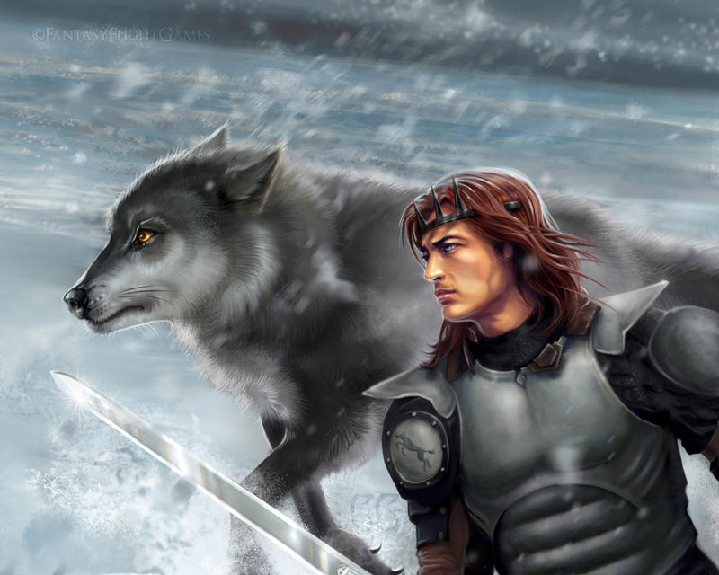 Robb and Grey Wind by quickreaver