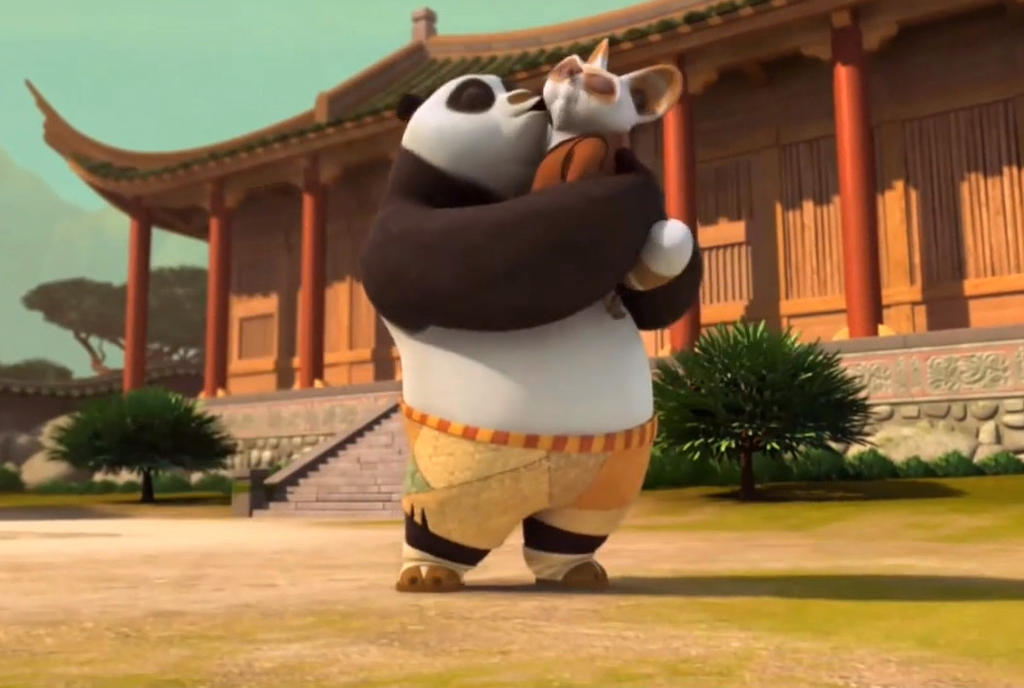 Po kisses Shifu by son... Kung Fu Panda Po And Shifu