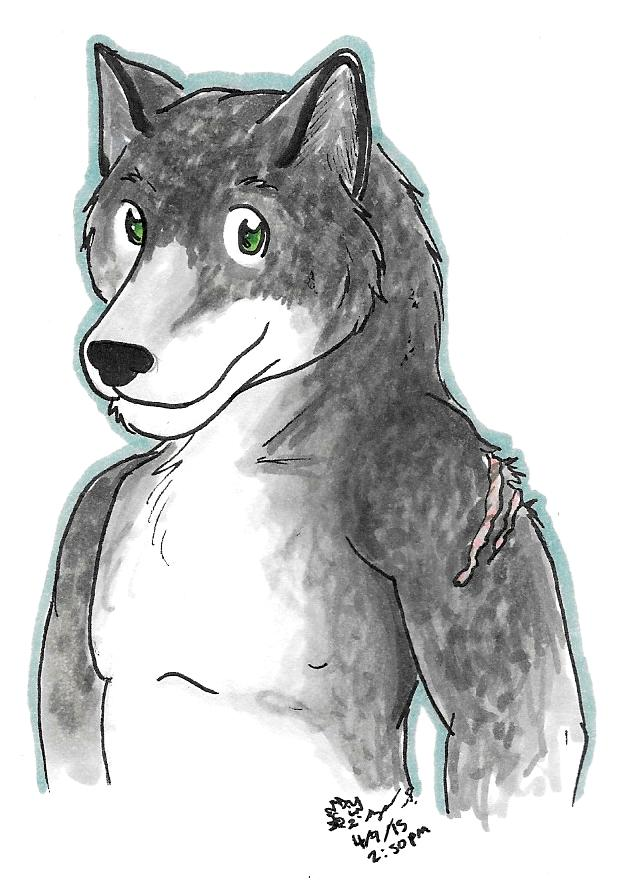 Stonefur wolf (Request) by Roaring-Flame-Cat