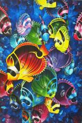 Fish Mosaic by Kyla-Nichole
