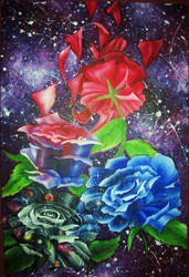Space Roses by Kyla-Nichole