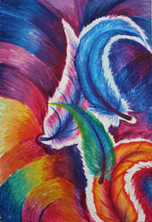Rainbow Feathers by Kyla-Nichole