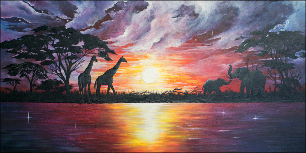 African Landscape by Kyla-Nichole