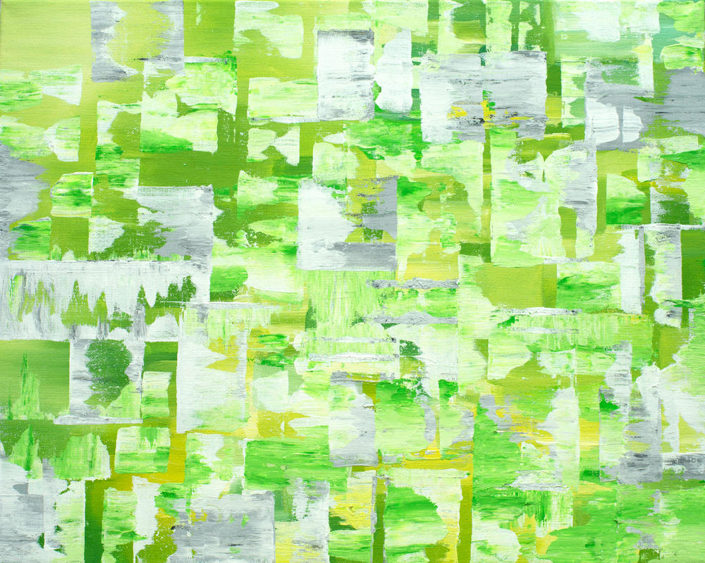 Green Abstract by Kyla-Nichole