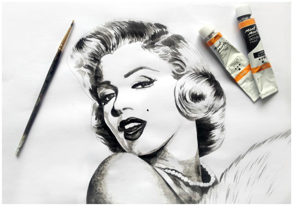 Marilyn Monroe WIP by Kyla-Nichole