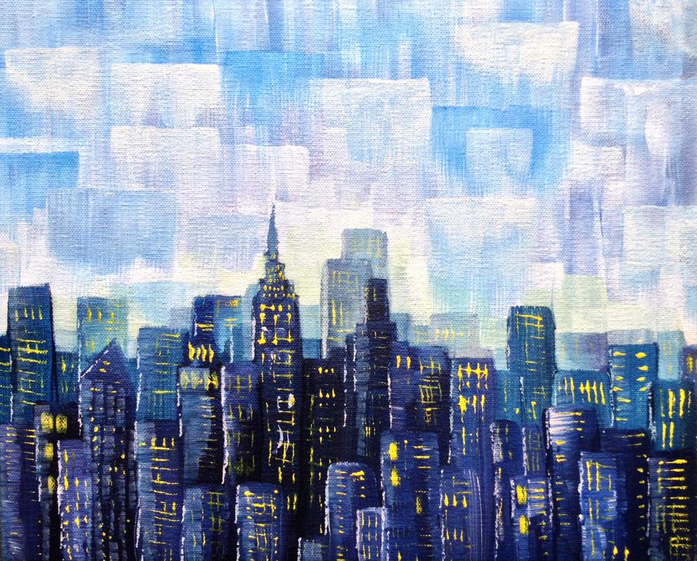 Rain Over New York City by Kyla-Nichole