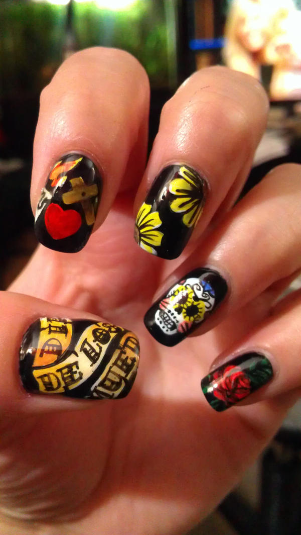 Day Of the dead Nails by SharasNailHut on DeviantArt