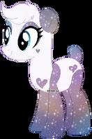 Galaxy Panda Pony Thing-Closed by axolotlshy