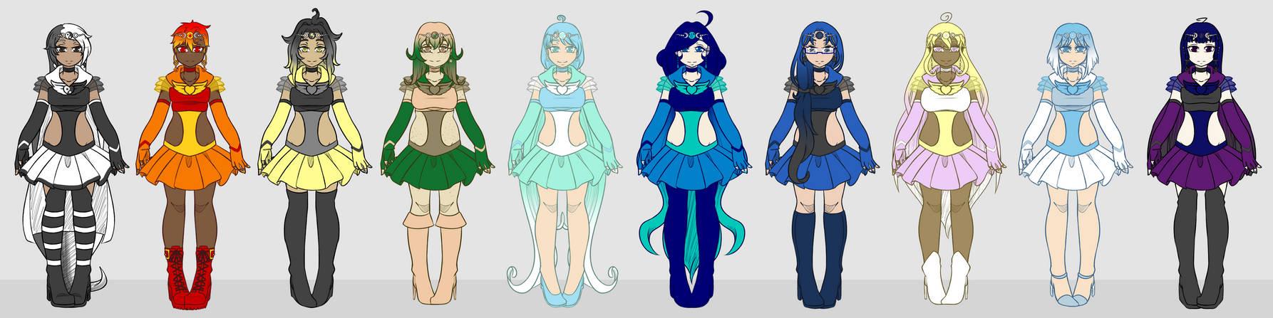 Sailor Moon OCs - Elements