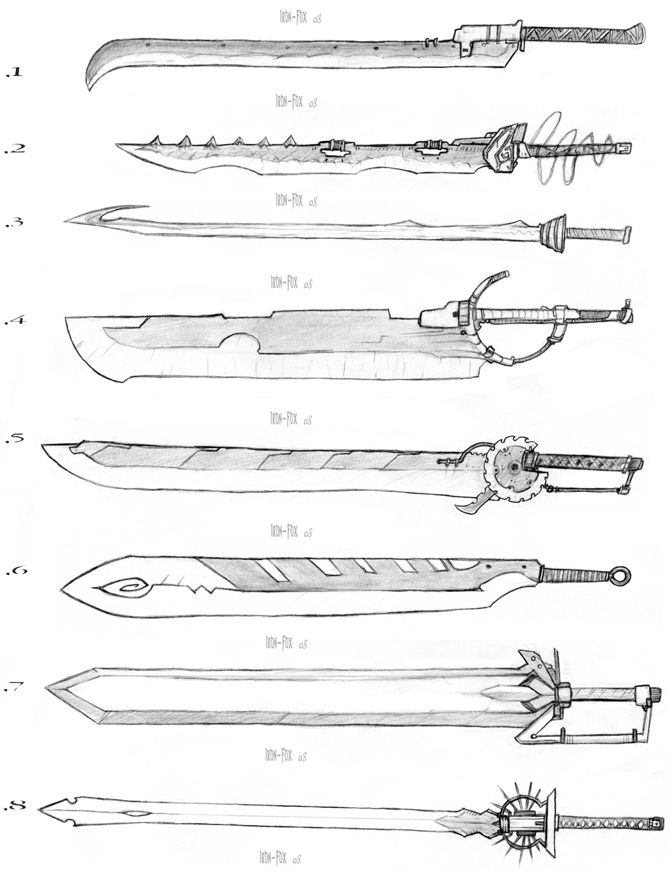 Sword Designs 2 by Iron-Fox on DeviantArt