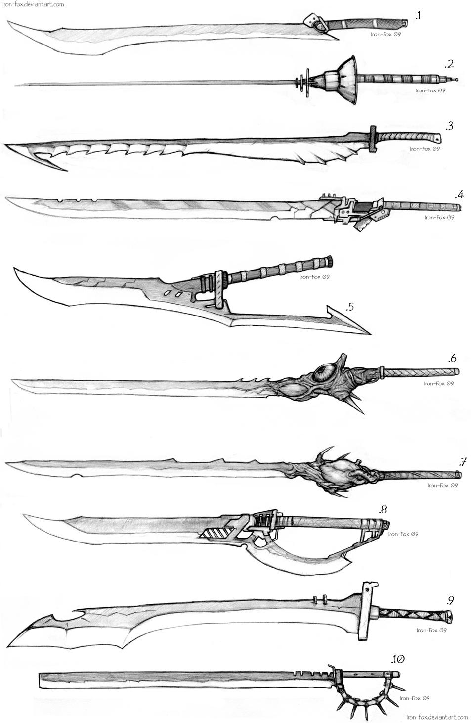 Sword Designs 4 by Iron-Fox