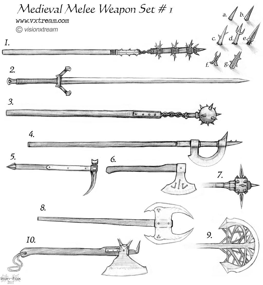 Medieval Set 1 by Iron-Fox on DeviantArt