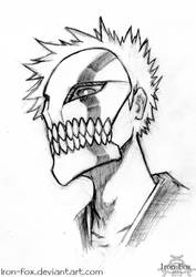 Masked Kurosaki Ichigo by Iron-Fox