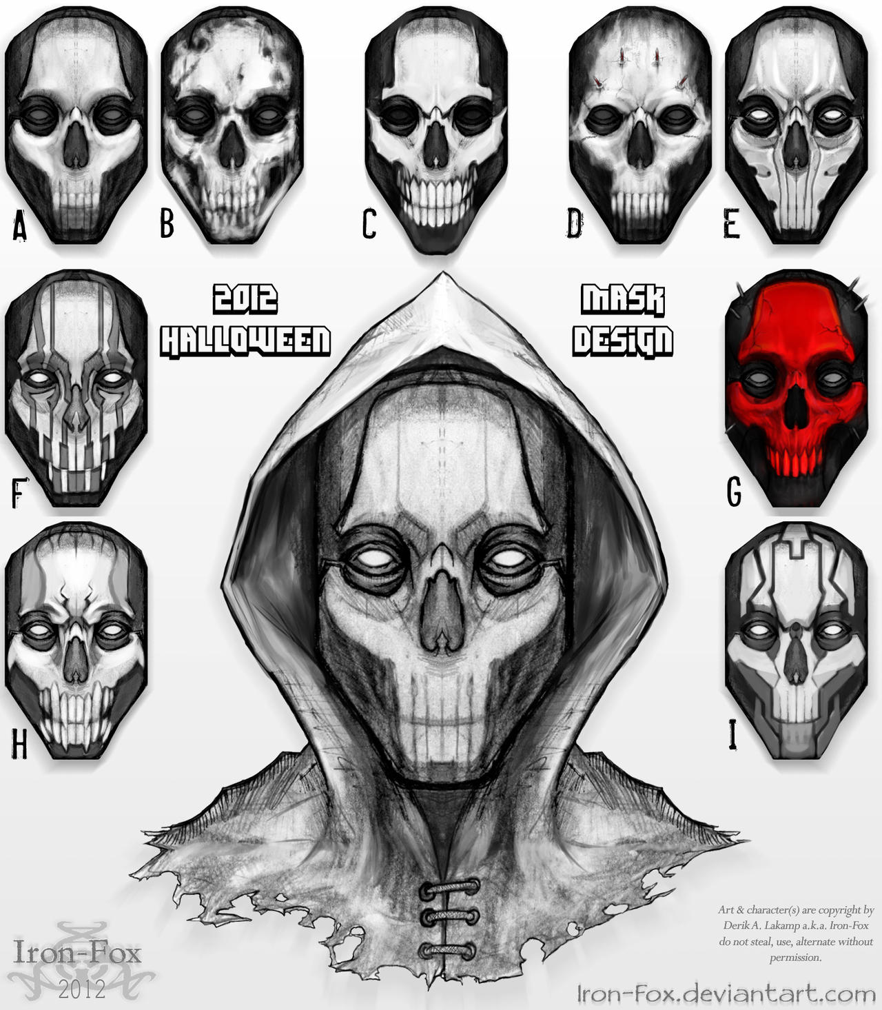 2012 Halloween Mask Design by Iron-Fox on DeviantArt