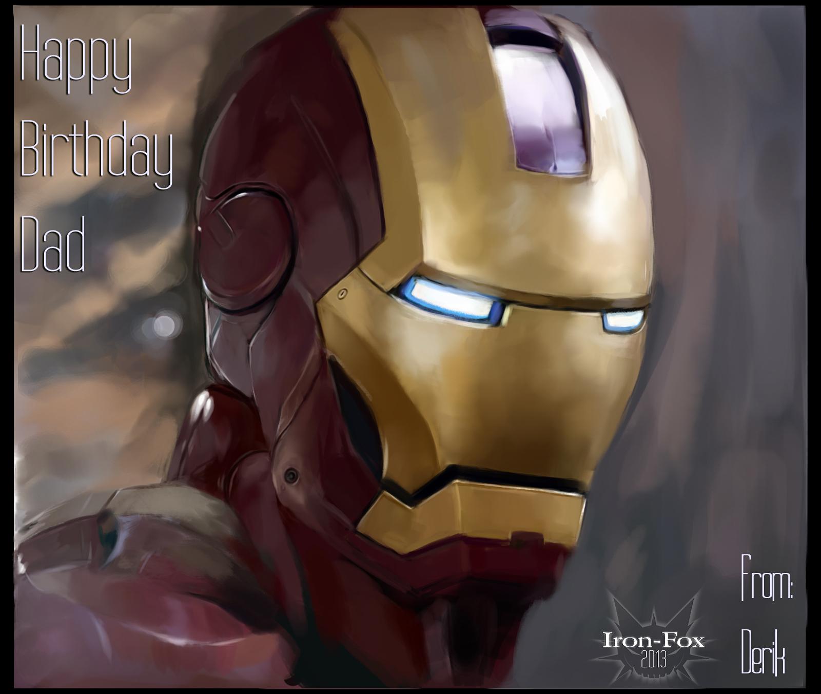 Fan art by iron fox on deviantart iron fox 178 53 iron man birthday card by iron fox bookmarktalkfo Images