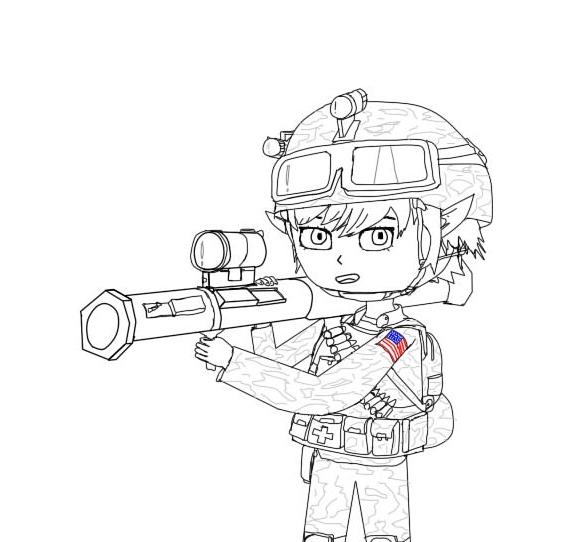 U.S. soldier Tristana by sunung0317