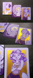 ACEO - Golden cats by Hellypse