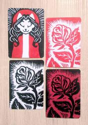 Sainte Carmine et ses roses