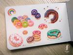 Watercolour donuts