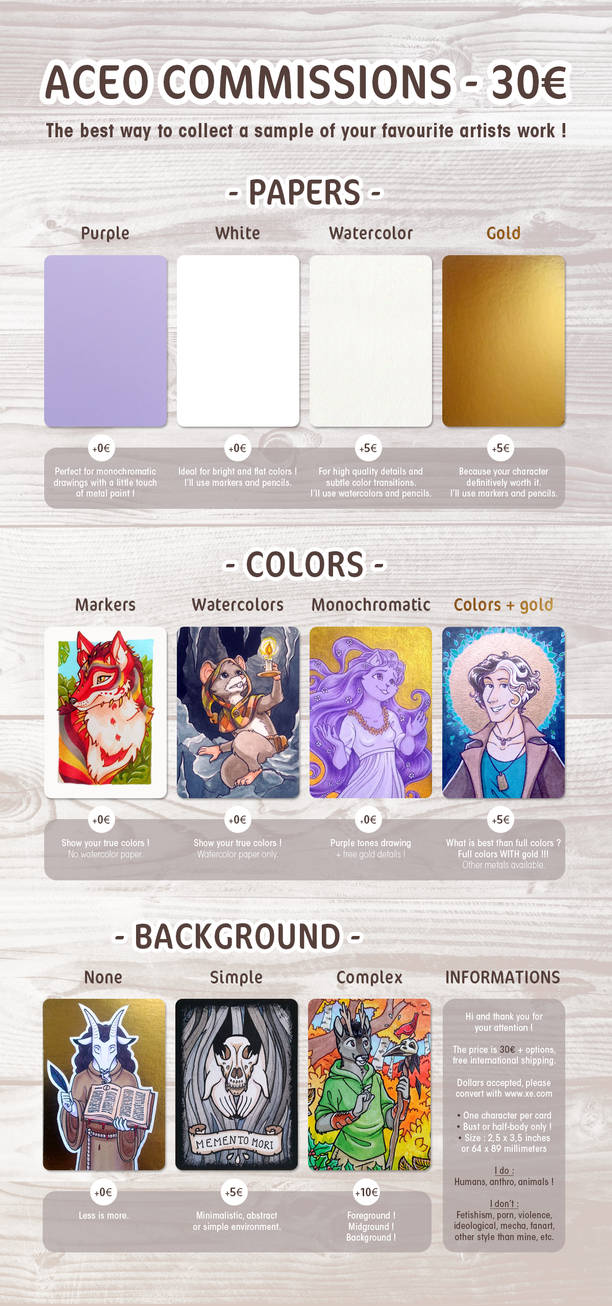 ACEO commissions are OPEN !