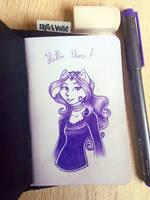 Ink portrait of Bianca