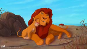 Mufasa and Simba - Hug Day!