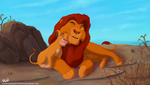 Mufasa and Simba - Hug Day!