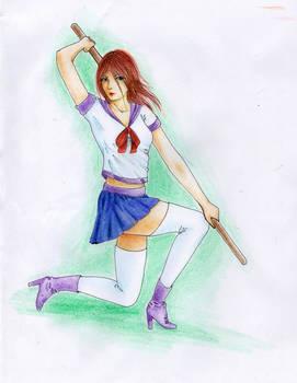 Schoolgirl sketch