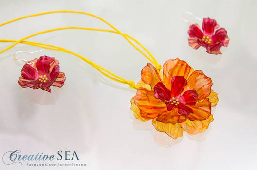 Recycled plastic flower set
