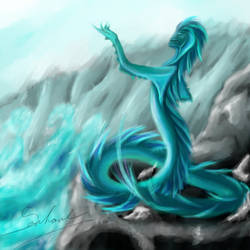 Water snake by Seschare
