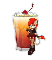 Comm. Food Sticker. Pyromia by 13VOin