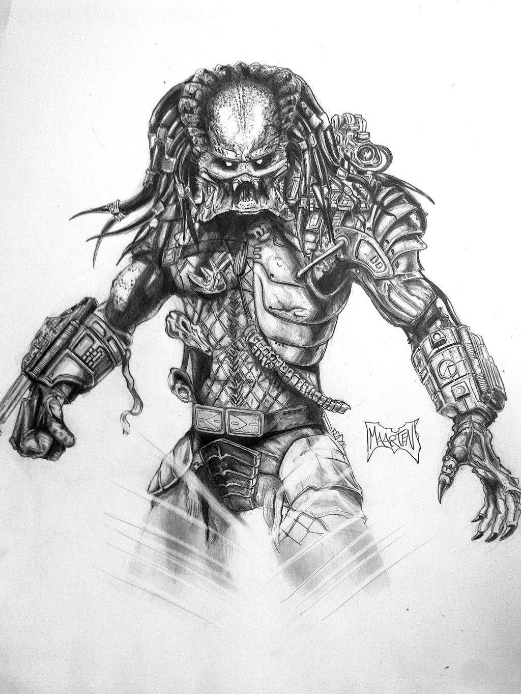 aliens vs predator drawings - photo #35