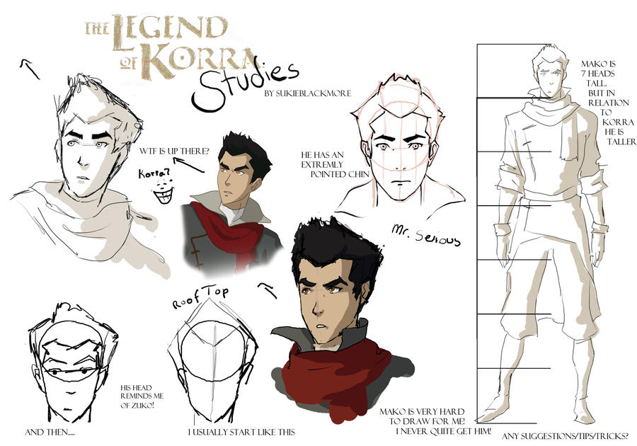 Legend of Korra Studies: Mako by sukieblackmore
