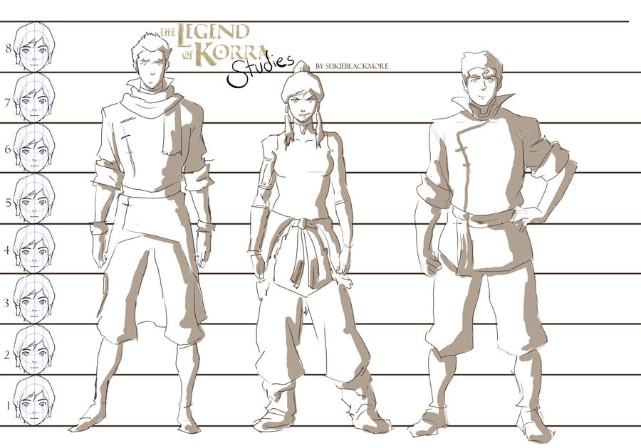 Legend of Korra Studies: Heights by sukieblackmore