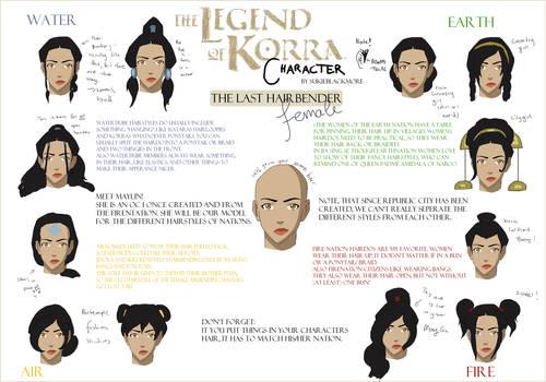 Legend of Korra Character: Hairbending female