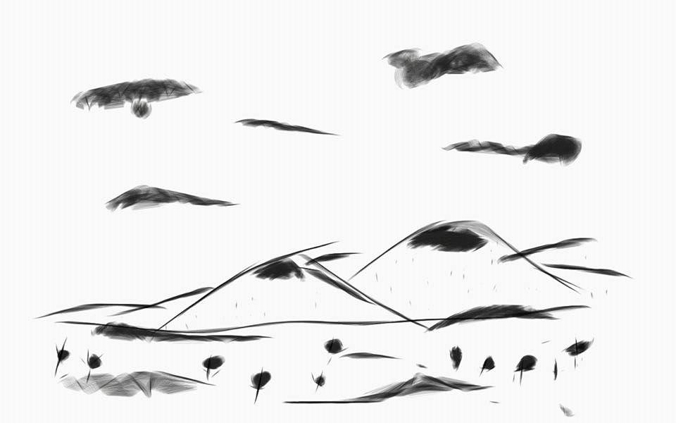 Tablet Doodle Landscape #1 by cerberus144