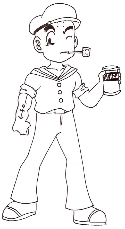 Kuririn the Sailor by Glee-chan