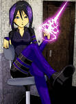 Psylocke Sitting