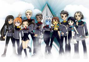 Star Trek Landale Crew by Glee-chan