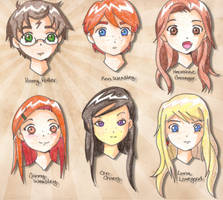HP Character Sketches by Glee-chan
