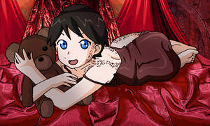 Cuddling with Kukalaka by Glee-chan