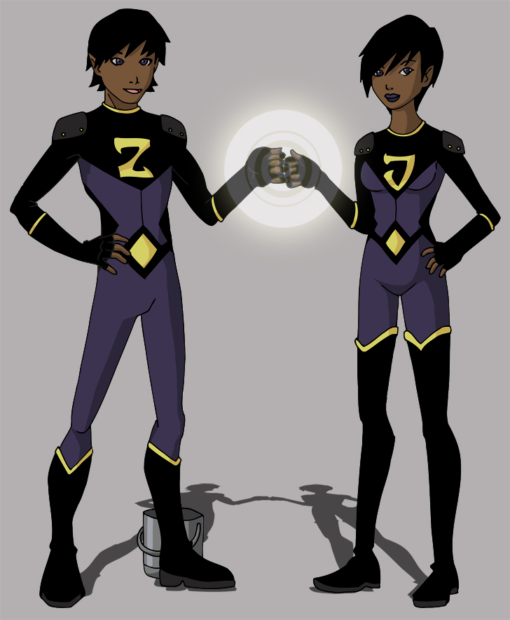 YJ Wonder Twins by Glee-chanYoung Justice Wonder Twins