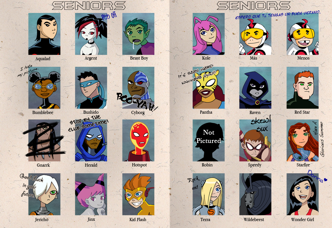 Teen Titans Yearbook by Glee-chan