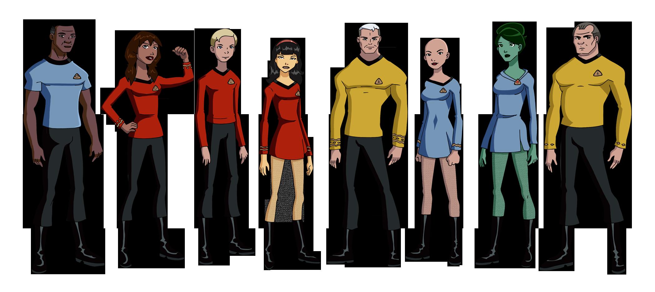 Deviantart Starfleet Captains Tylan Schan: My TOS Fan Crew By Glee-chan On DeviantArt