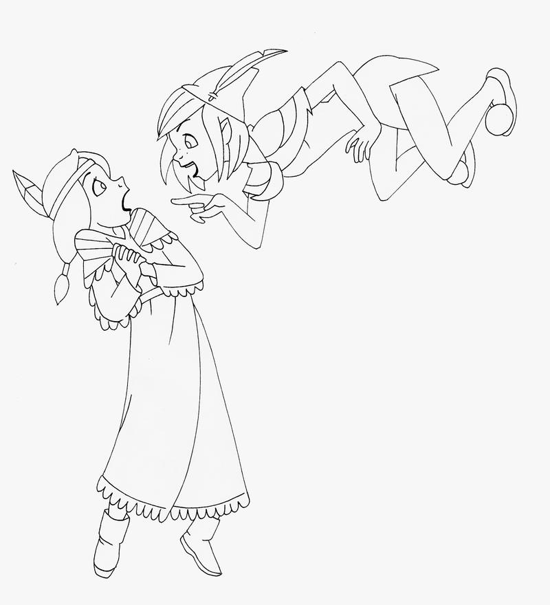 Tiger Lily Peter Pan Pages Coloring Pages