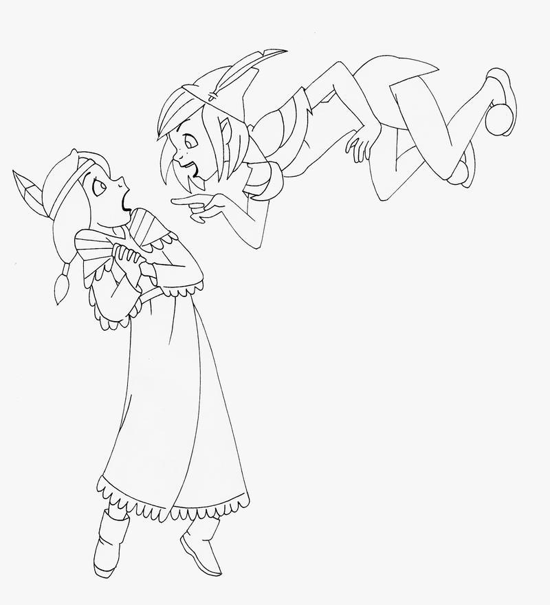peter pan indian princess coloring pages | Tiger Lily Peter Pan Pages Coloring Pages