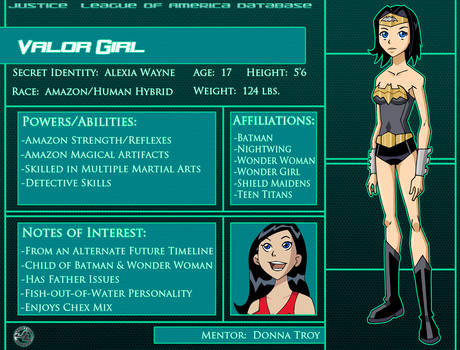 Valor Girl:  Character Profile