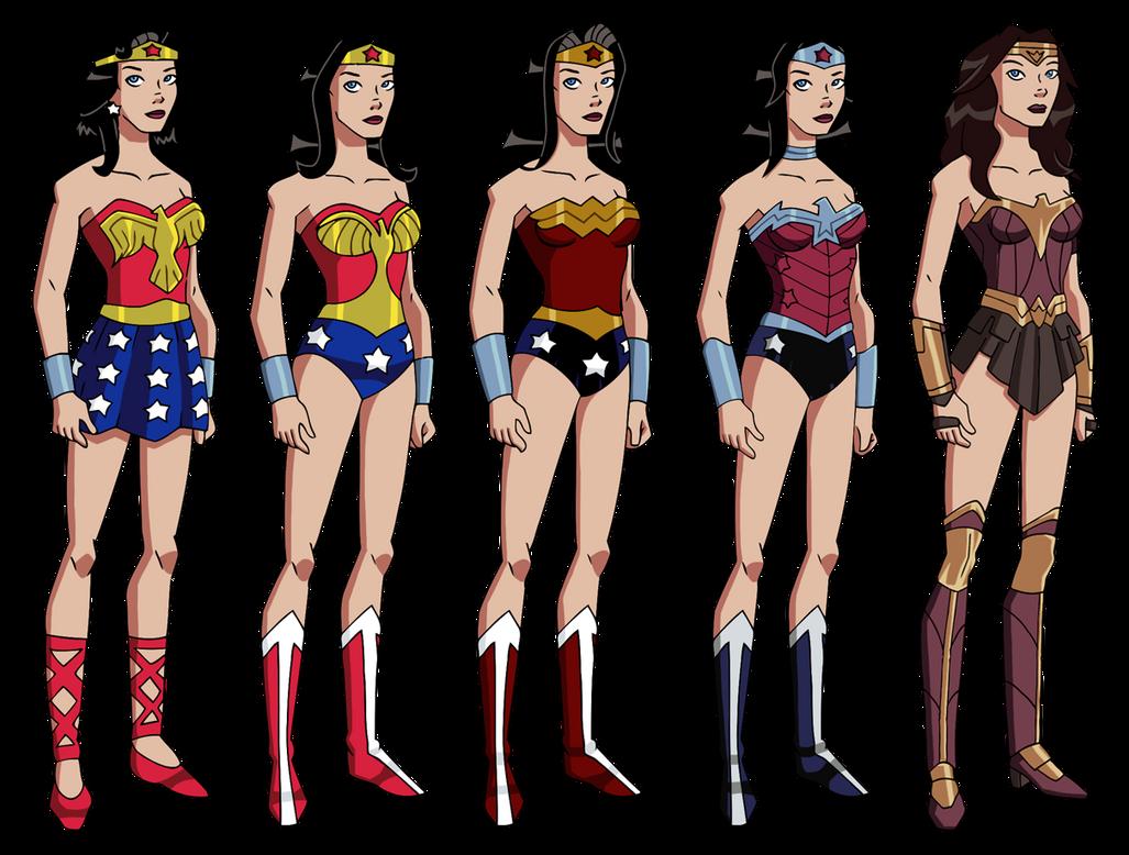 Wonder Woman's Wardrobe by Glee-chan