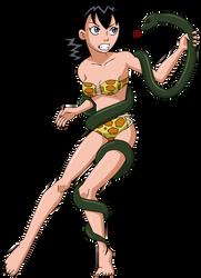 Rulah vs a Snake by Glee-chan