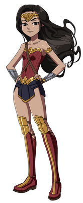Kid Wonder Woman loves Justice